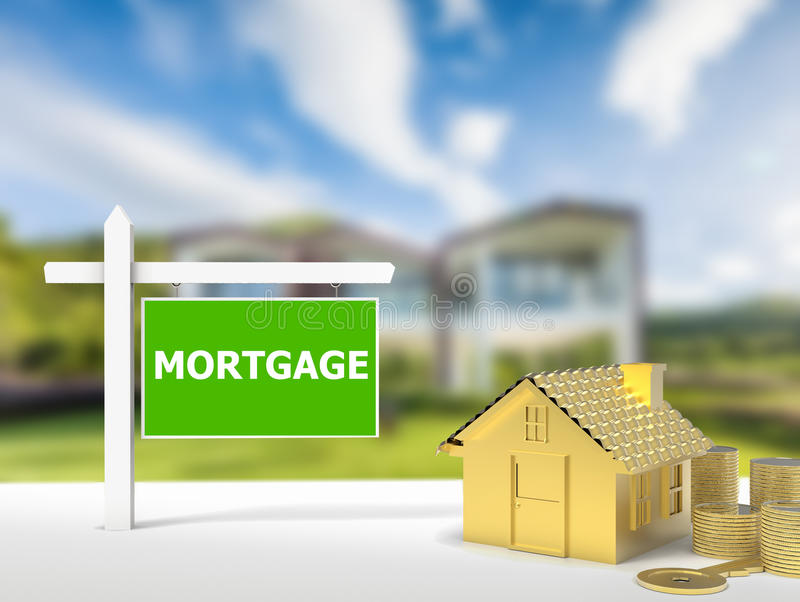 Mortgage house sign stock photos