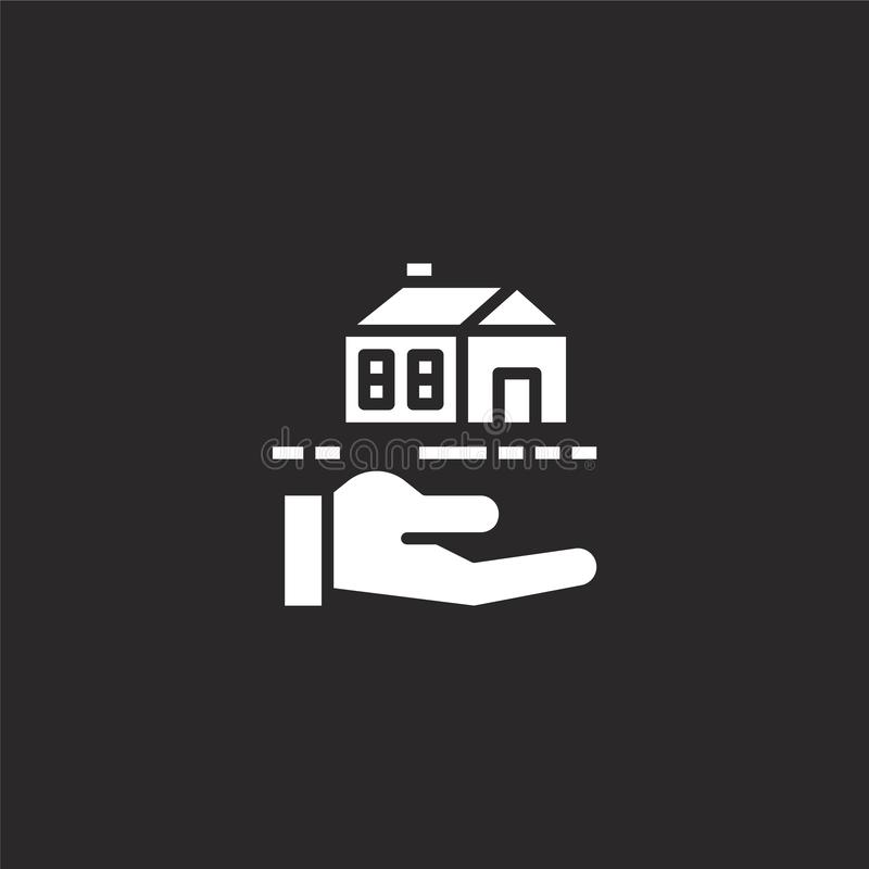 mortgage icon. Filled mortgage icon for website design and mobile, app development. mortgage icon from filled insurance collection royalty free illustration