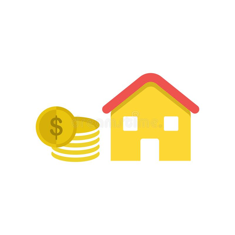 Mortgage Loan Icon Vector Sign And Symbol Isolated On ...