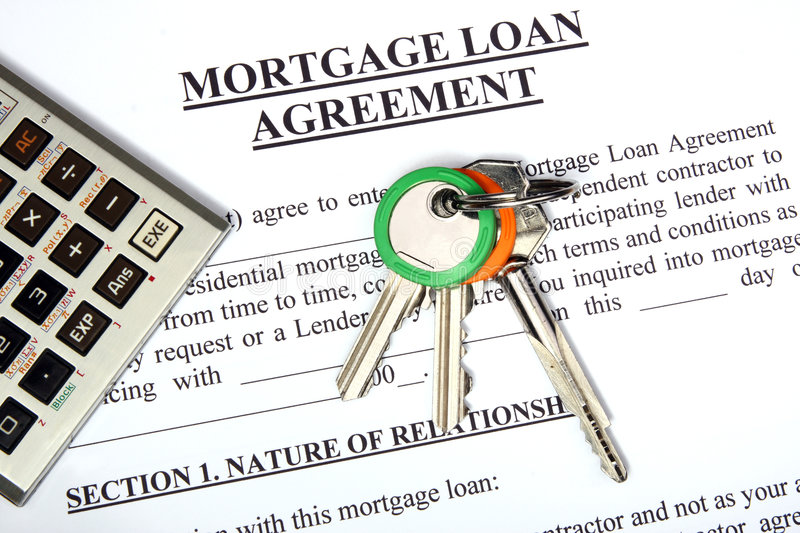 Download Mortgage Loan Application Form Stock Image - Image: 7173559