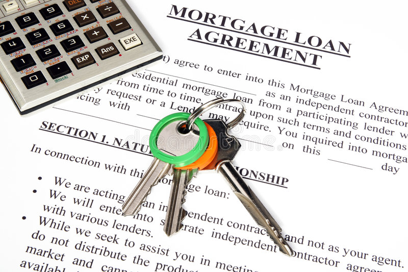 Download Mortgage Loan Application Form Stock Image - Image: 7173657