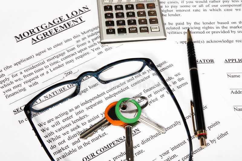 Download Mortgage Loan Application Form Stock Photo - Image: 7173726