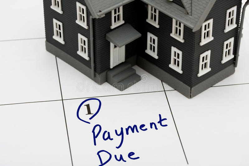 Mortgage Payment royalty free stock photos