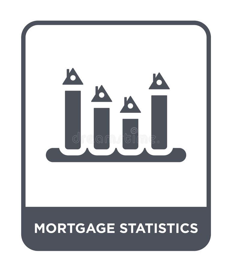 mortgage statistics icon in trendy design style. mortgage statistics icon isolated on white background. mortgage statistics vector vector illustration