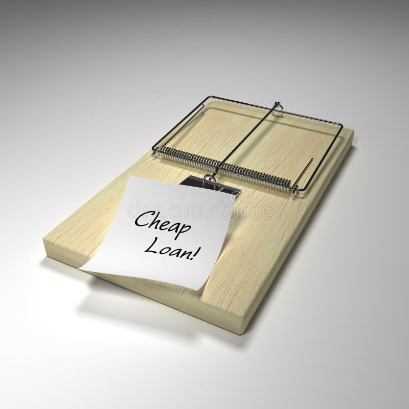 Mortgage trap. Conceptual trap for false promises stock photos