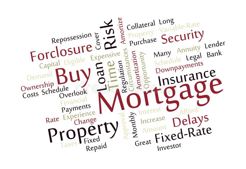 Download Mortgage Word Cloud stock vector. Image of period, graphic - 27754835
