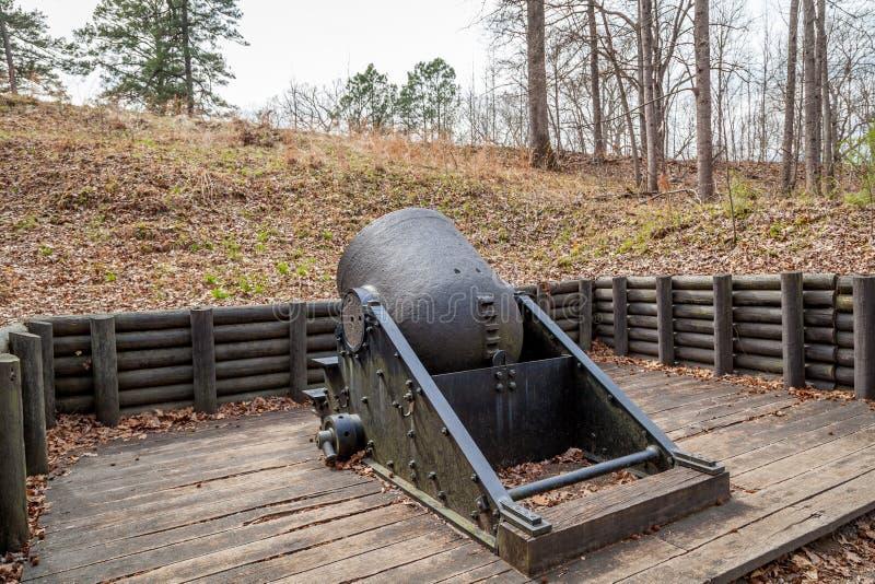Mortier de guerre civile au champ de bataille de Pétersbourg photo stock