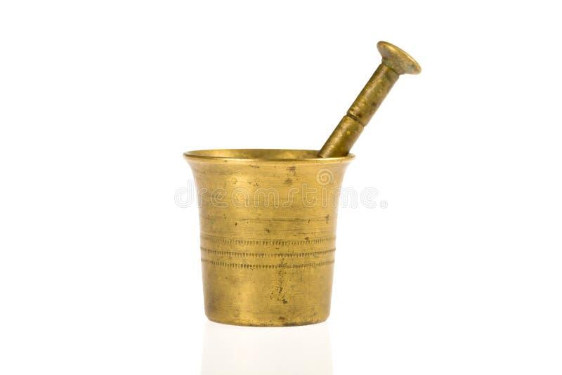 mortier en bronze vieux image stock