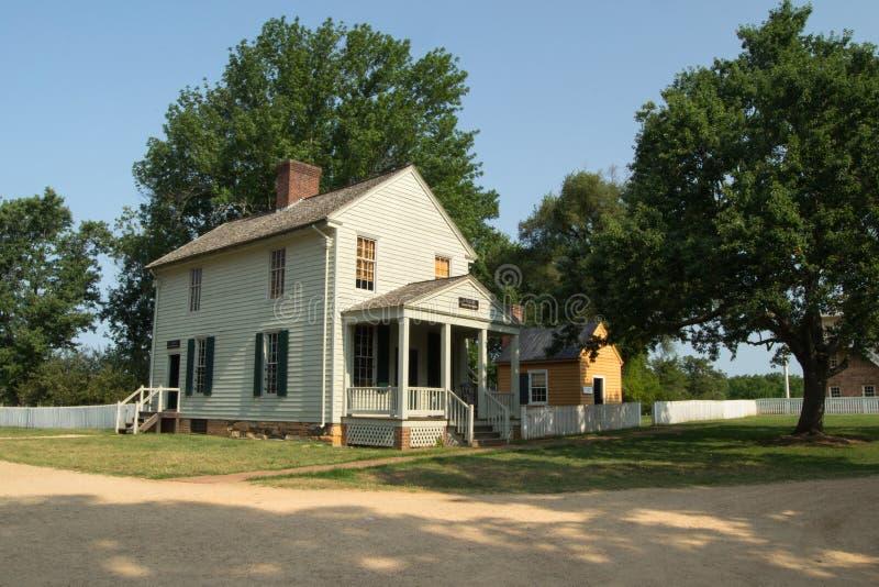 Mortifie le magasin - parc historique national de palais de justice d'Appomattox photos stock