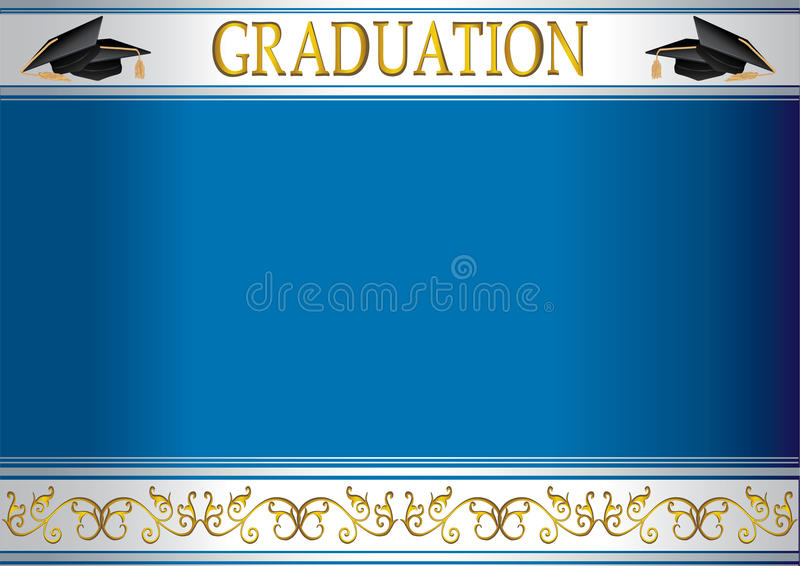 mortlar för kortavläggande av exameninbjudan vektor illustrationer