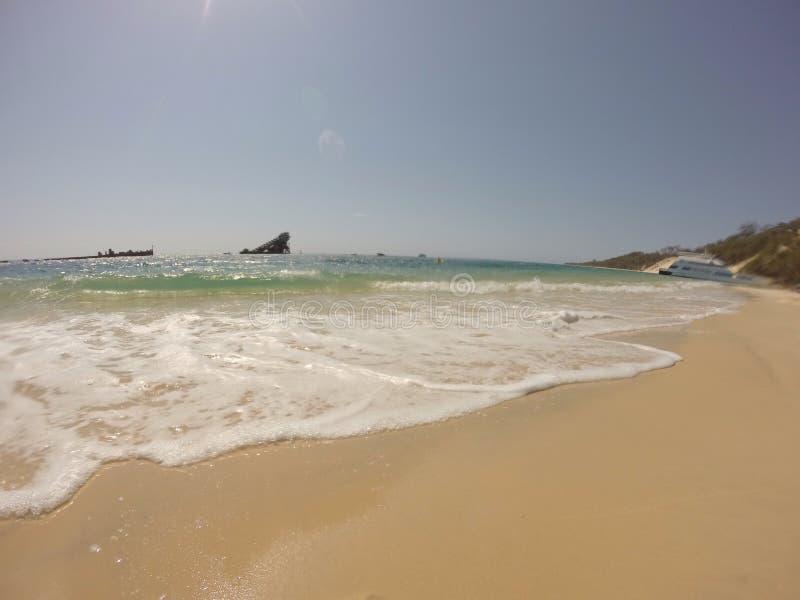 Morton Islannd plaży statku wrak obraz royalty free