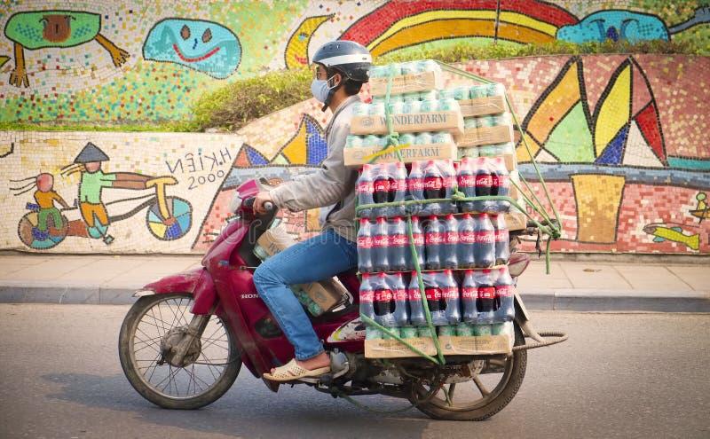 Mortorbike,河内,越南 免版税库存照片