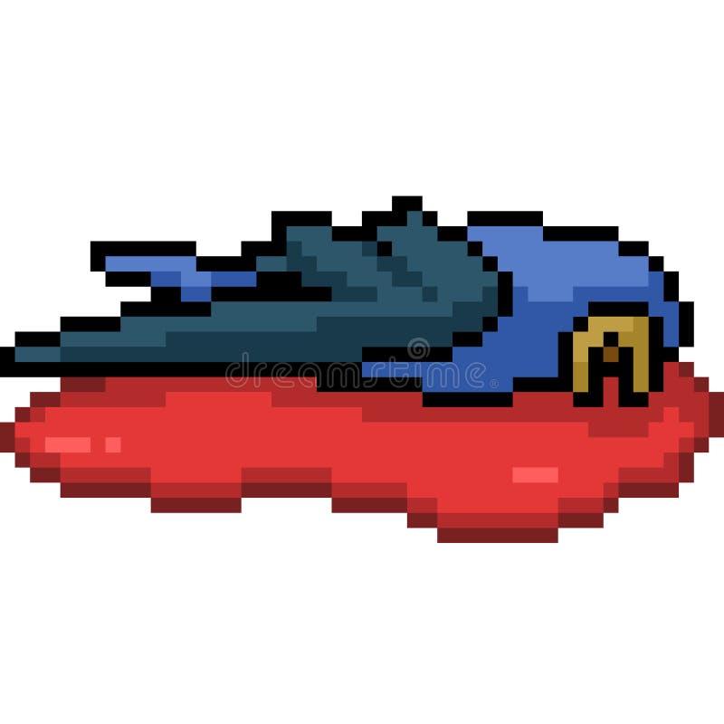 Morts d'oiseau d'art de pixel de vecteur illustration de vecteur