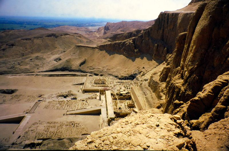 Mortuary Temple of Hatshepsut in Valley of the queens stock photo