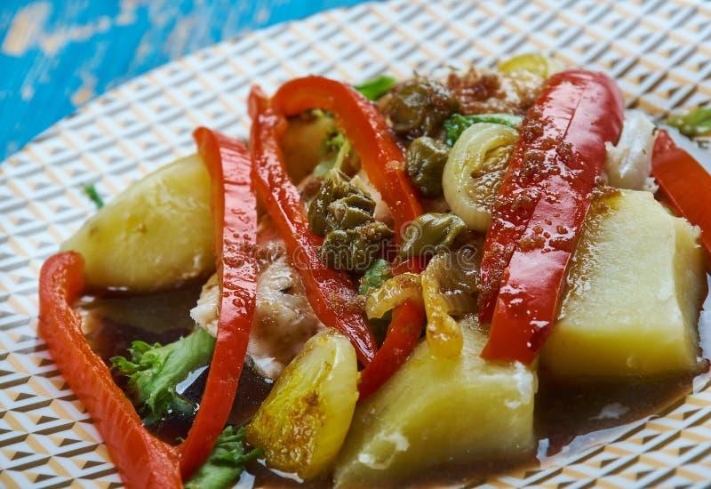 Morue cuite au four balsamique photo stock