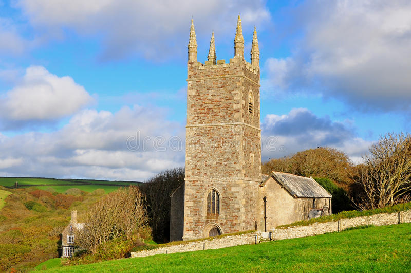 Morwenstowe-Kirche, Devon, England lizenzfreies stockbild