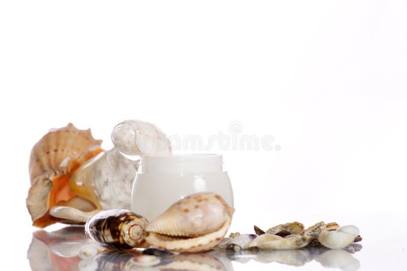 morza śmietanki kosmetycznym naboje zdjęcia royalty free