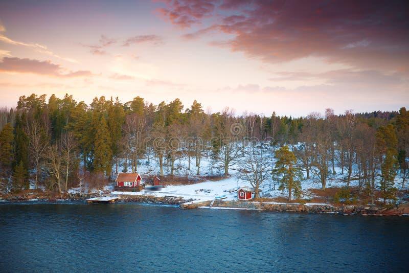 Morza Bałtyckiego wybrzeże w Szwecja fotografia stock