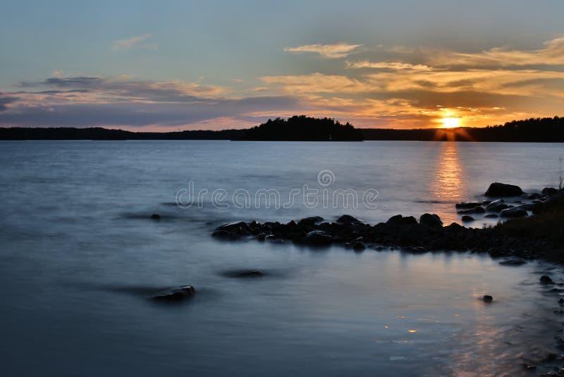 Morza Bałtyckiego wybrzeże w Szwecja zdjęcia royalty free