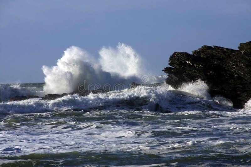 morza burzowi obrazy stock