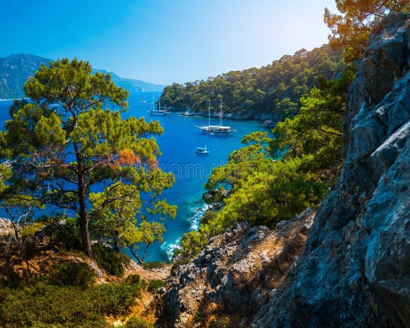 Morza Egejskiego wybrzeże obraz stock