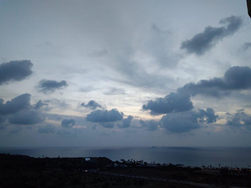 Morza i nieba błękita światło fotografia stock