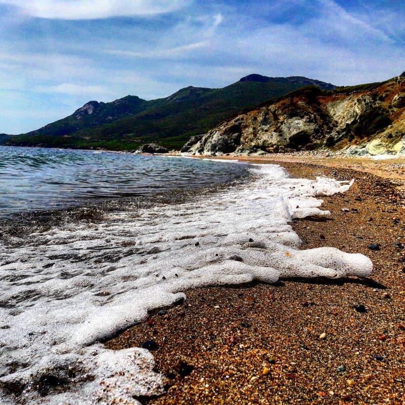 Morza i plaży widok zdjęcia royalty free