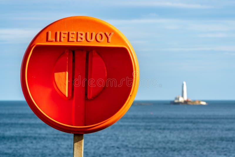 Morza Północnego wybrzeże w Seaton śluzie, Anglia, UK fotografia royalty free
