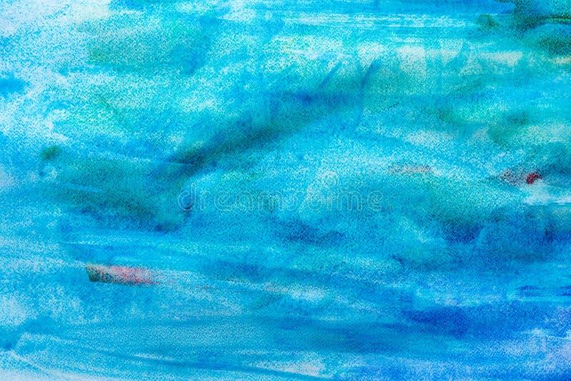 Morza tła krajobrazowa ręka malująca w akwareli ilustracji