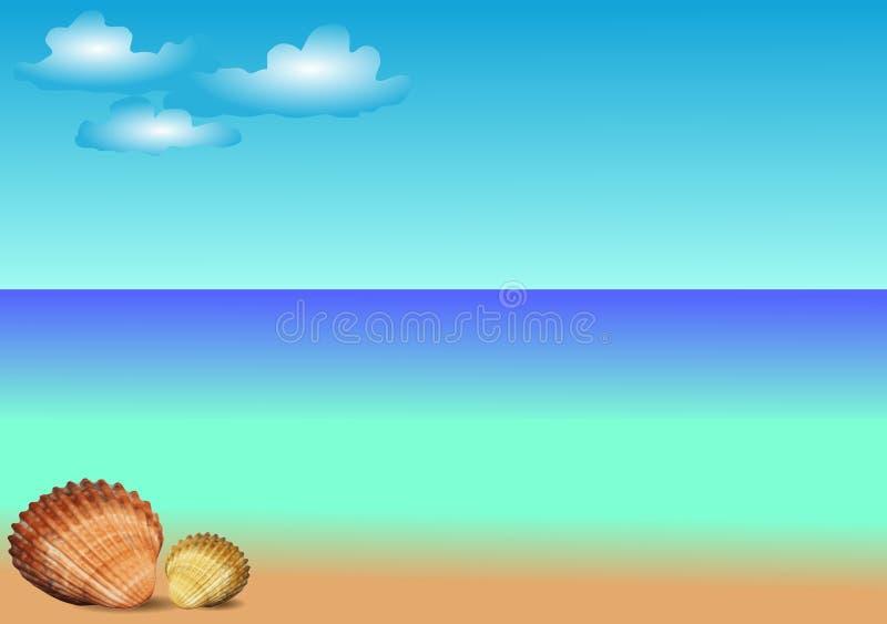morze łuska szablonu wektor ilustracja wektor