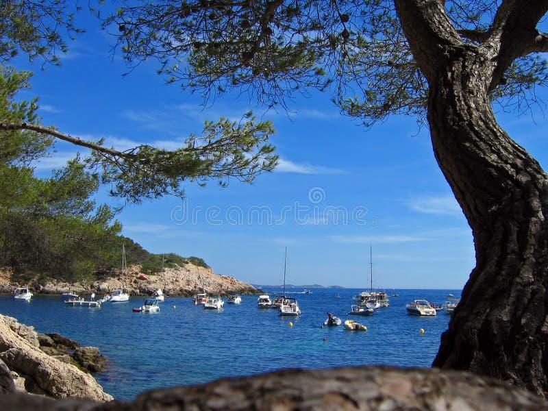 morze Śródziemne bay obrazy royalty free