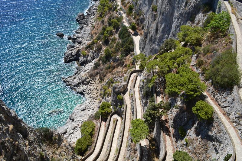 Morze Śródziemnomorskie, Capri ` s morze fotografia royalty free