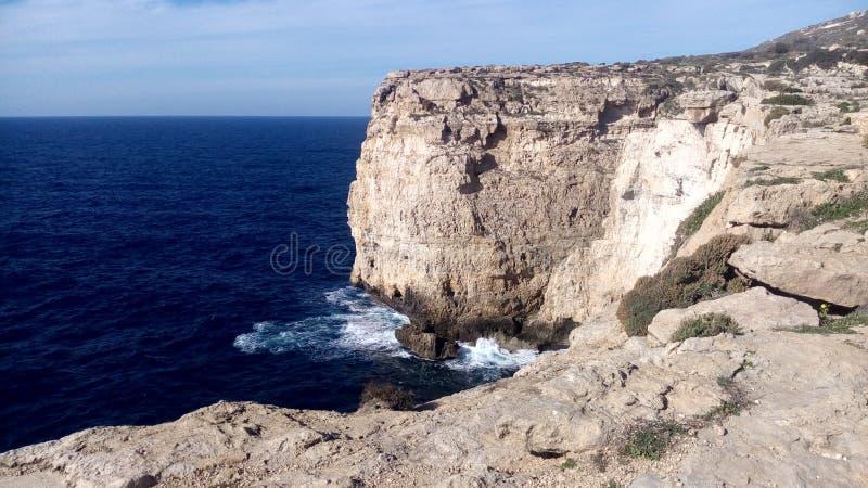 Morze Śródziemnomorskie kosztu widok obraz royalty free