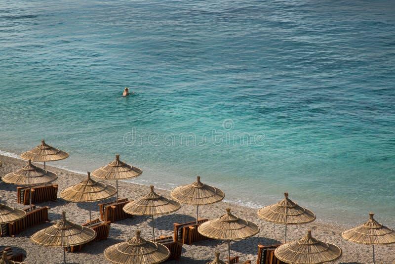 Morze Albania obrazy royalty free