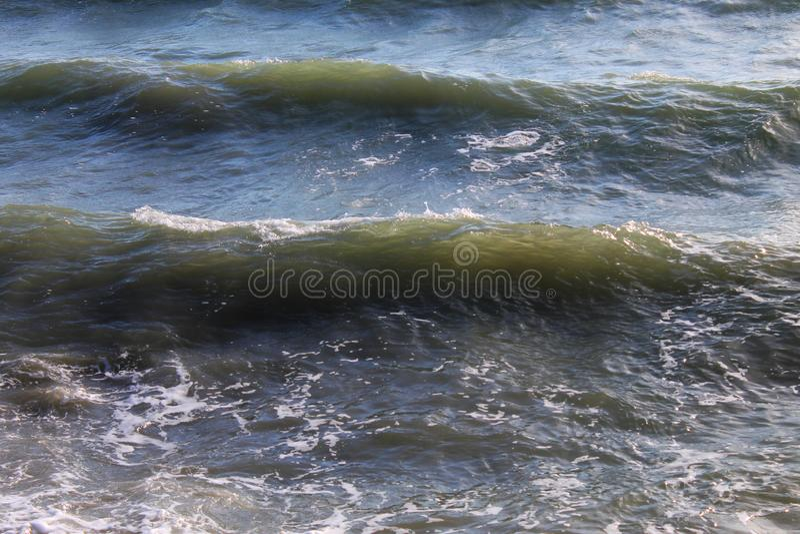 Morze Azov Fala przy zmierzchem Środkowy Europa zdjęcia royalty free