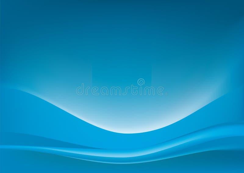 morze błękitny fala ilustracja wektor