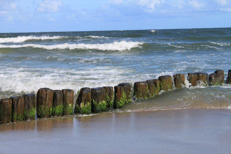 Morze Bałtyckie falochron obrazy royalty free