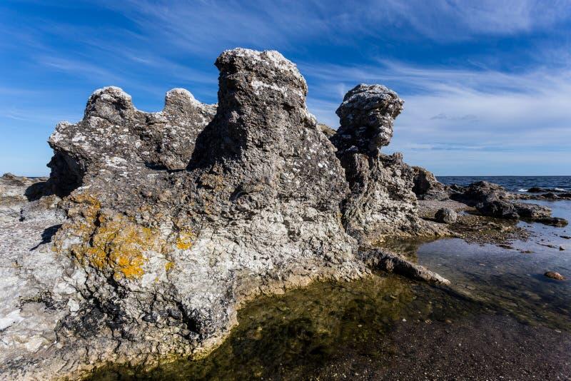 Morze Bałtyckie, Faro, Gotland, Szwecja zdjęcia royalty free