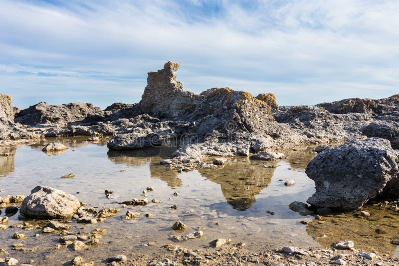 Morze Bałtyckie, Faro, Gotland, Szwecja fotografia stock