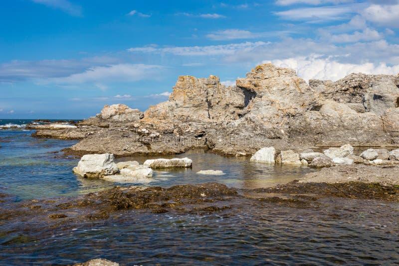 Morze Bałtyckie, Faro, Gotland, Szwecja obraz royalty free