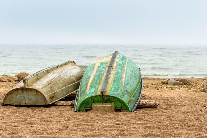 Morze Bałtyckie plaża w Repino blisko St Petersburg fotografia stock