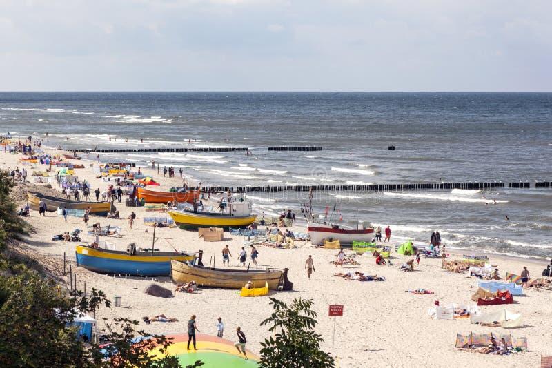 Morze Bałtyckie przy letnim dniem. zdjęcie stock