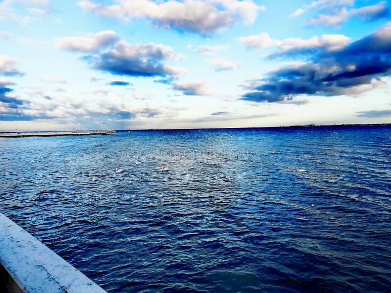 Morze Bałtyckie w wczesnej wiośnie fotografia stock