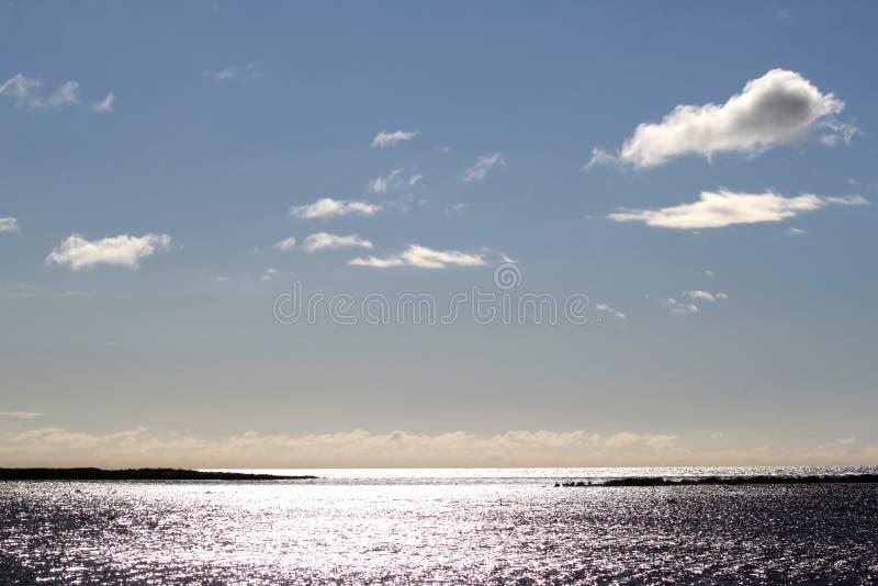 Morze Bałtyckie widzieć od Skanors Ljung, Szwecja zdjęcia stock