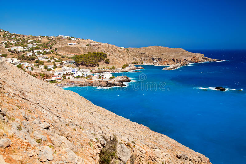 Morze blisko Chora Sfakion w Crete obrazy royalty free
