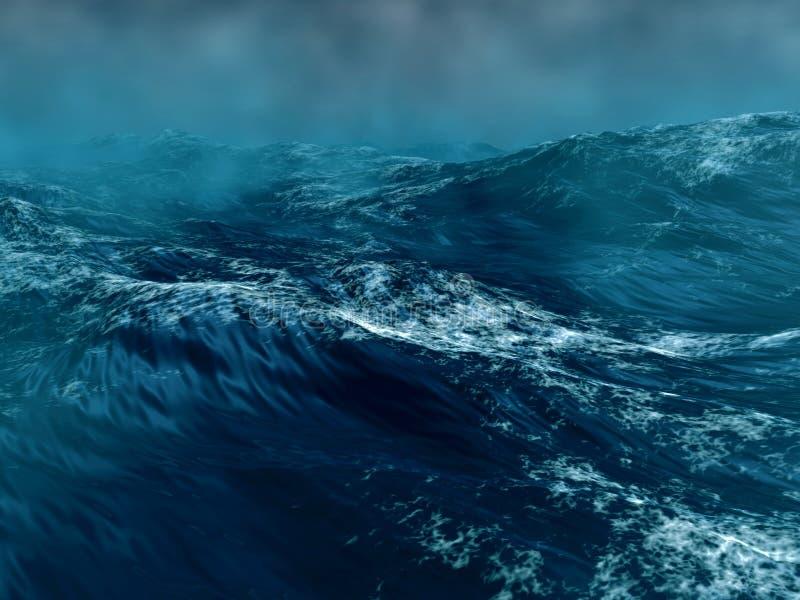 morze burzowy ilustracja wektor