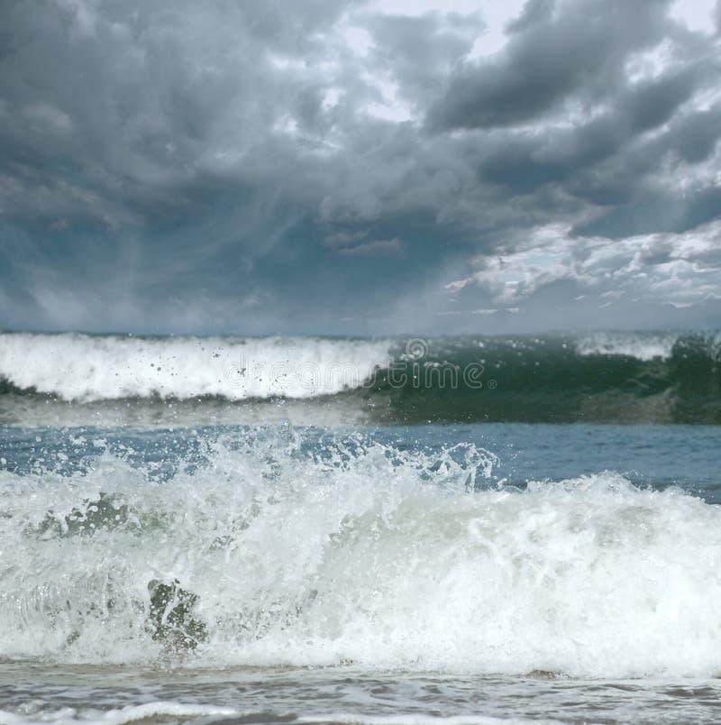 morze burzowy zdjęcie stock