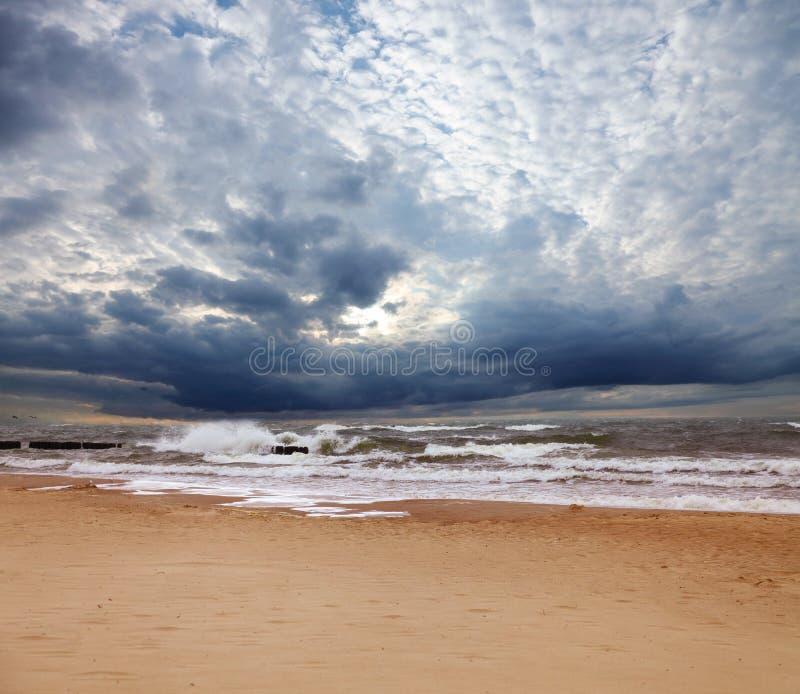 morze burzowy obrazy stock