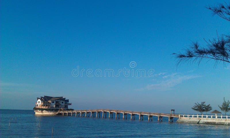 Morze dom zdjęcie stock