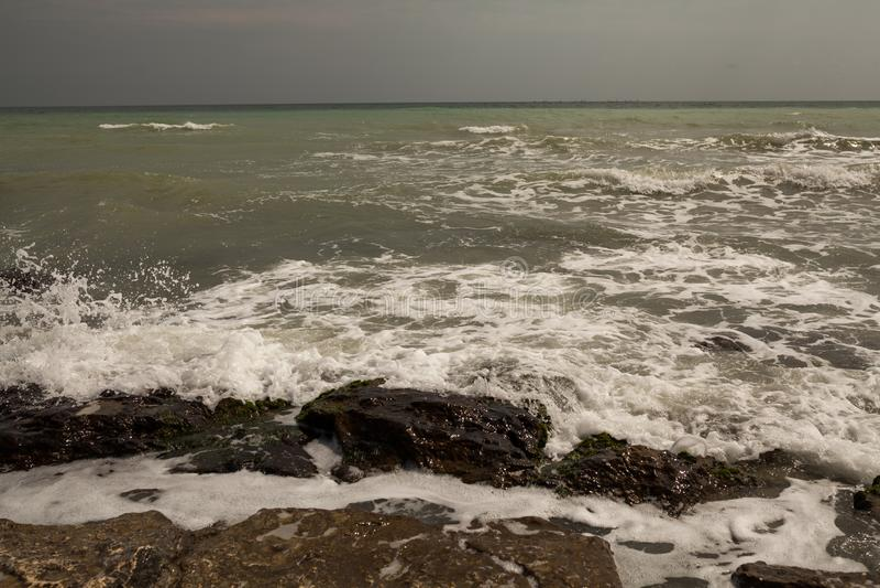 Morze fala - burza zaczyna obraz stock